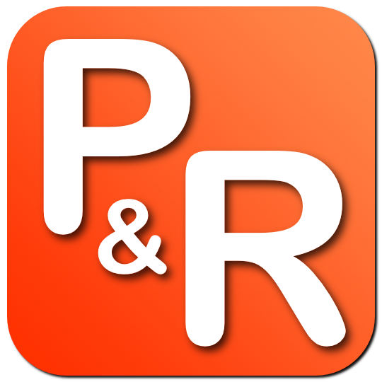 P and R App Icon Image