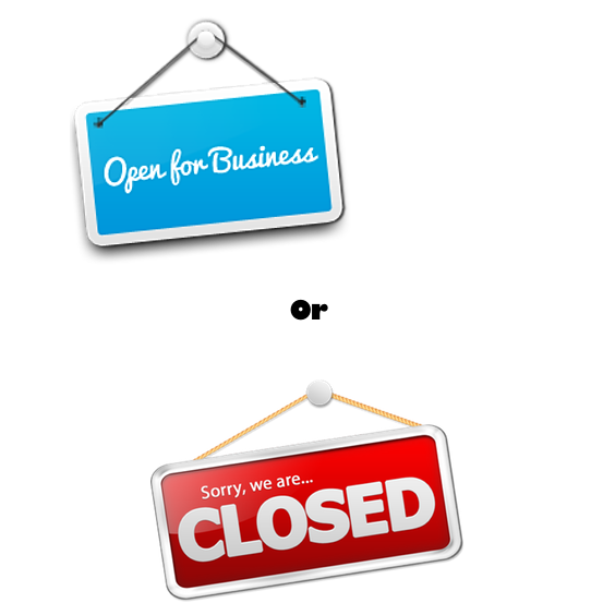 Open Or Closed for Business Image