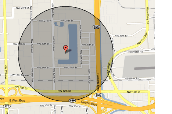 Geofence Map Image